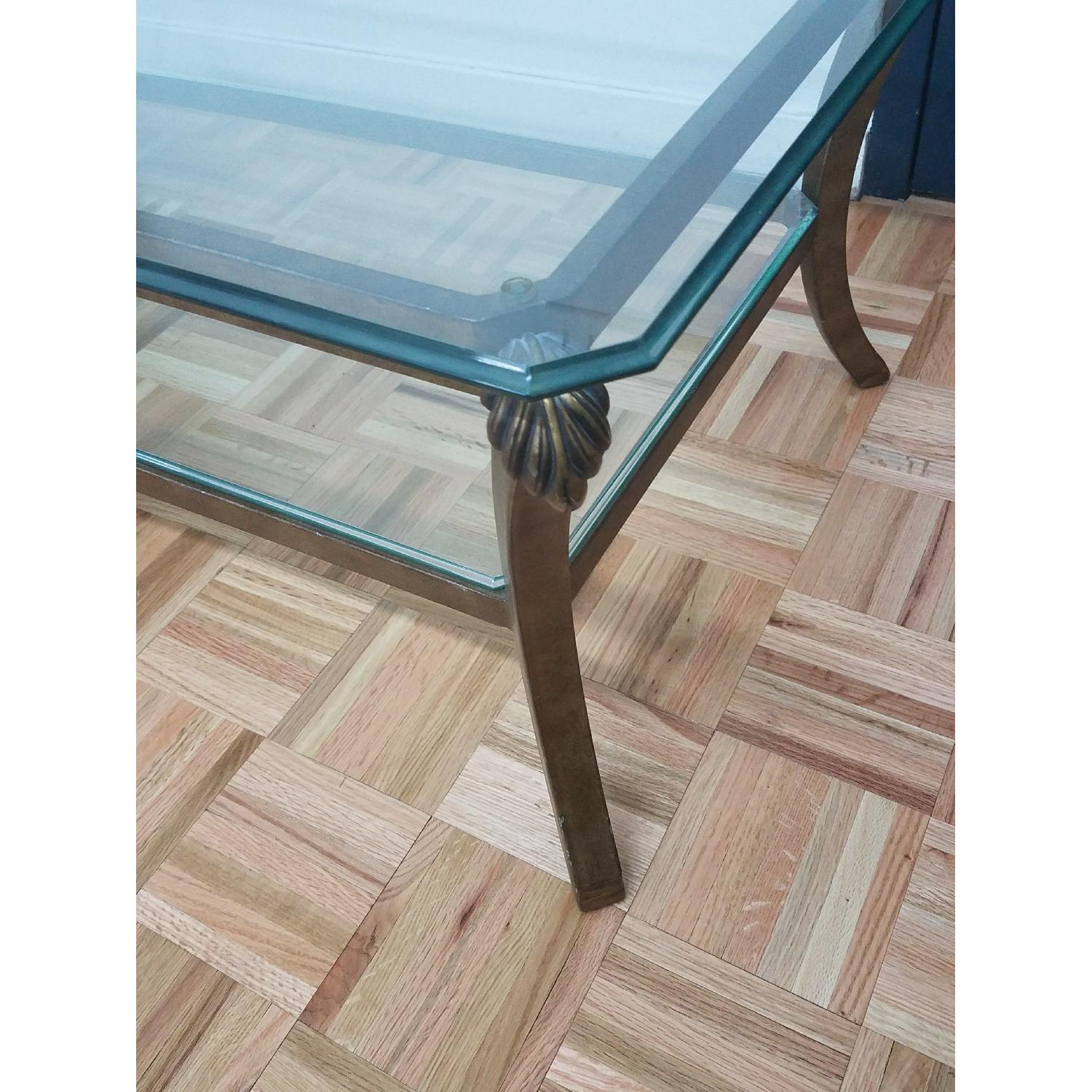 Glass & Metal Coffee Table-2