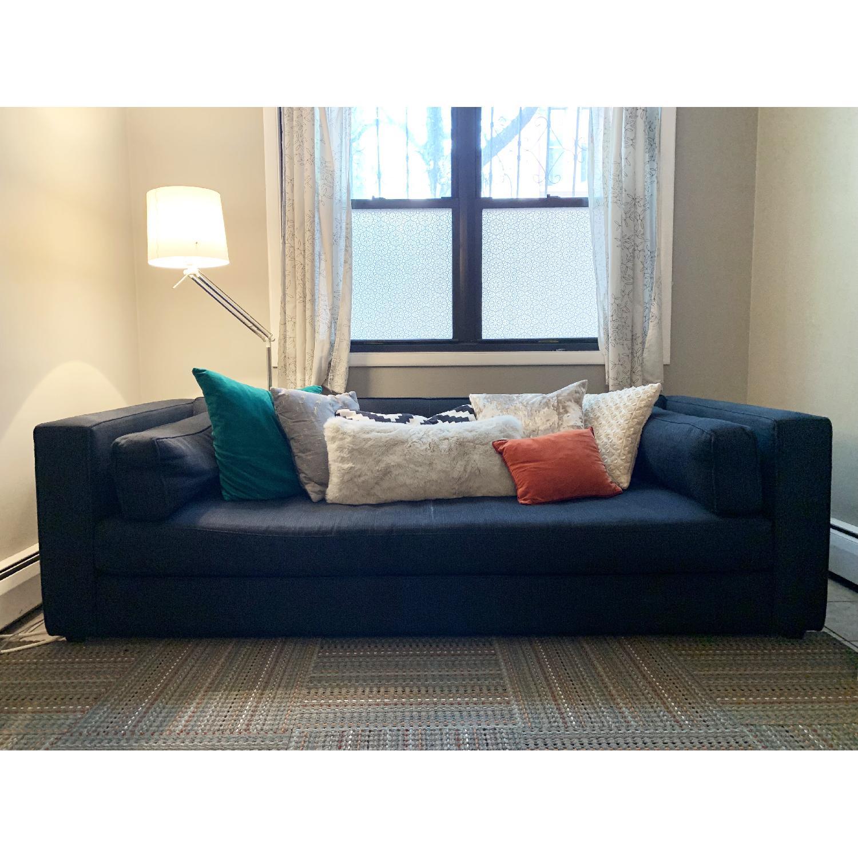 Crate & Barrel Dark Blue/Navy Fabric Sofa - image-0