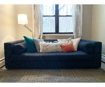 Crate & Barrel Dark Blue/Navy Fabric Sofa