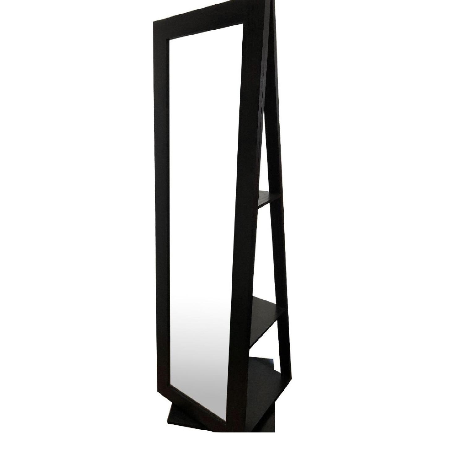 Crate & Barrel Floor Mirror w/ Rotating Shelves