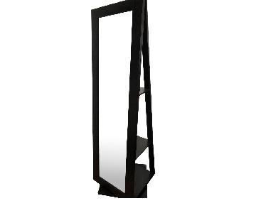 Crate & Barrel Floor Mirror w/ Rotating Shelves