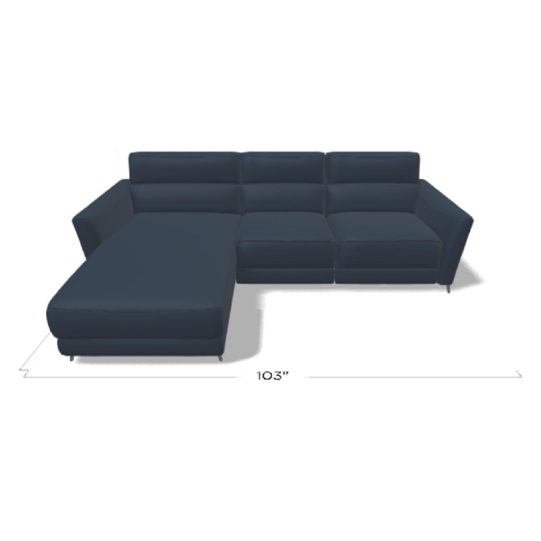 Natuzzi Italia Stan Leather Sofa - image-1