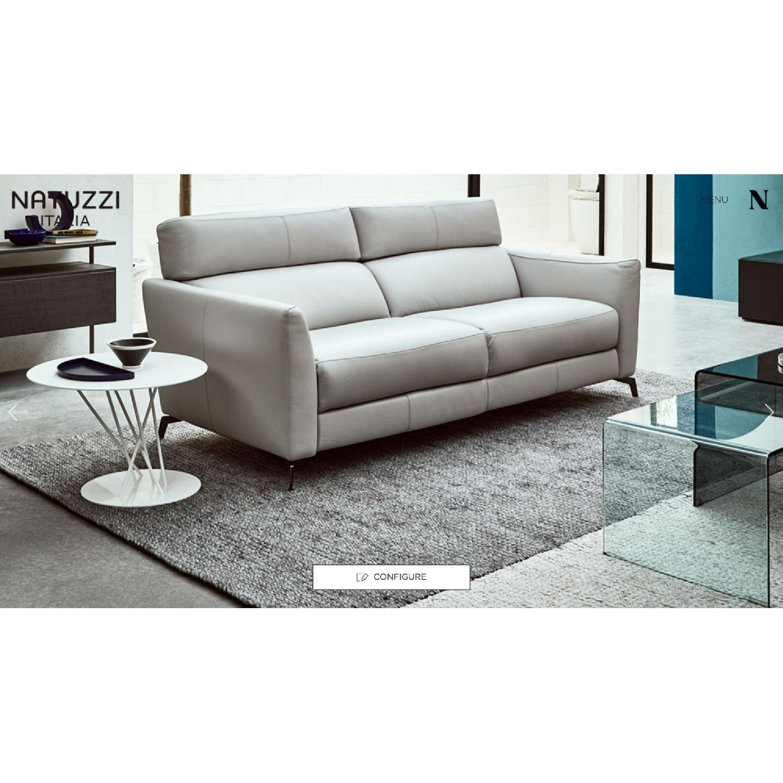 Natuzzi Italia Stan Leather Sofa - image-7