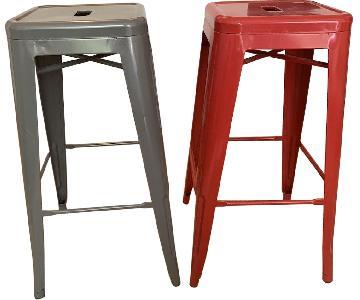 Red & Gray Bar Stools