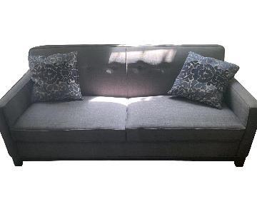 Blue Upholstered Sofa