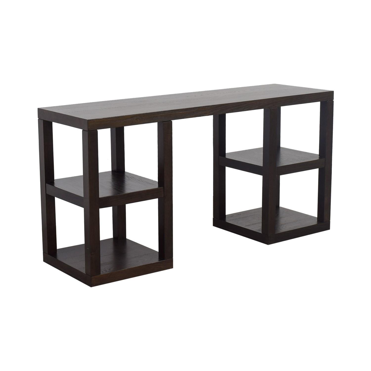 West Elm 2 X 2 Console Desk in Chocolate - image-3
