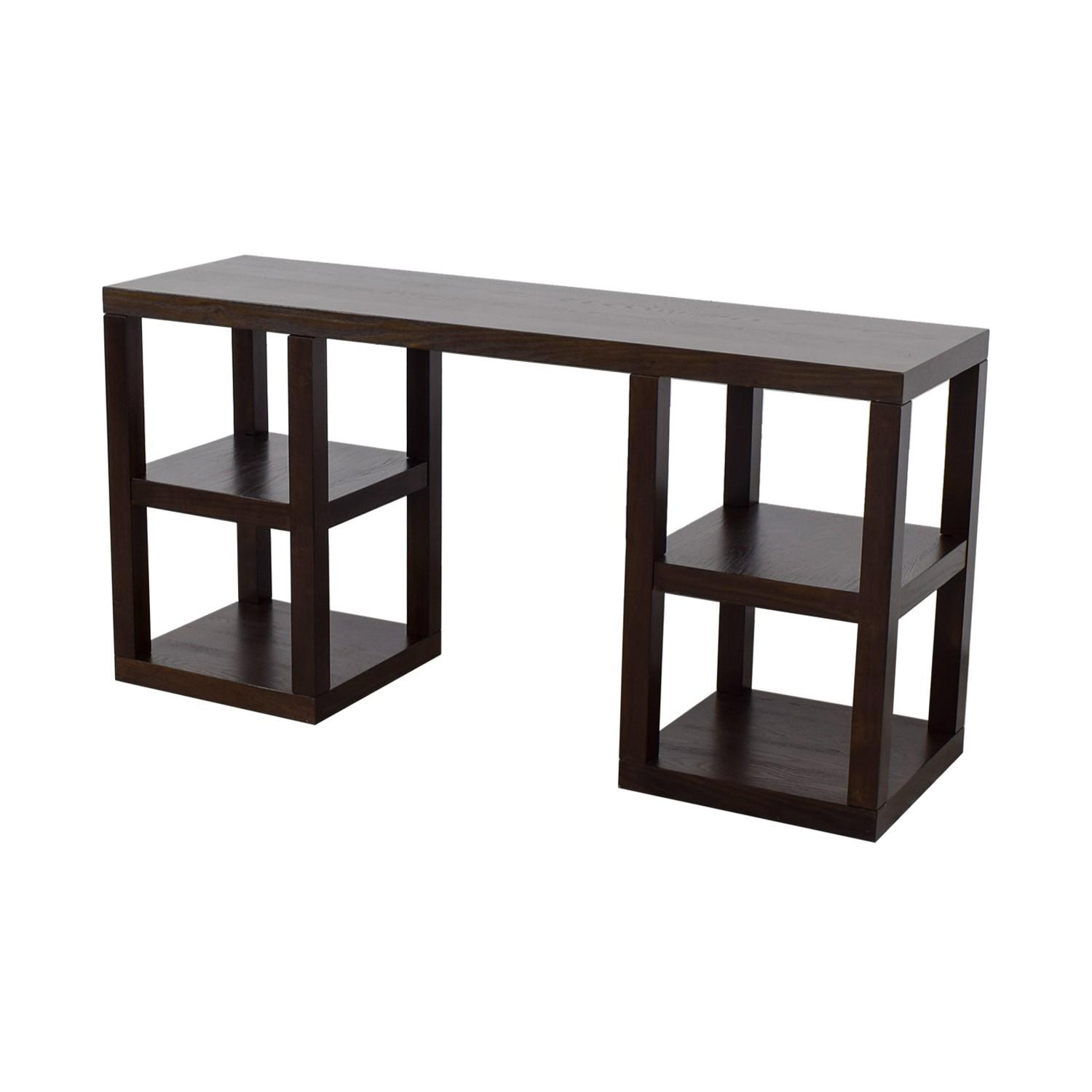 West Elm 2 X 2 Console Desk in Chocolate - image-4