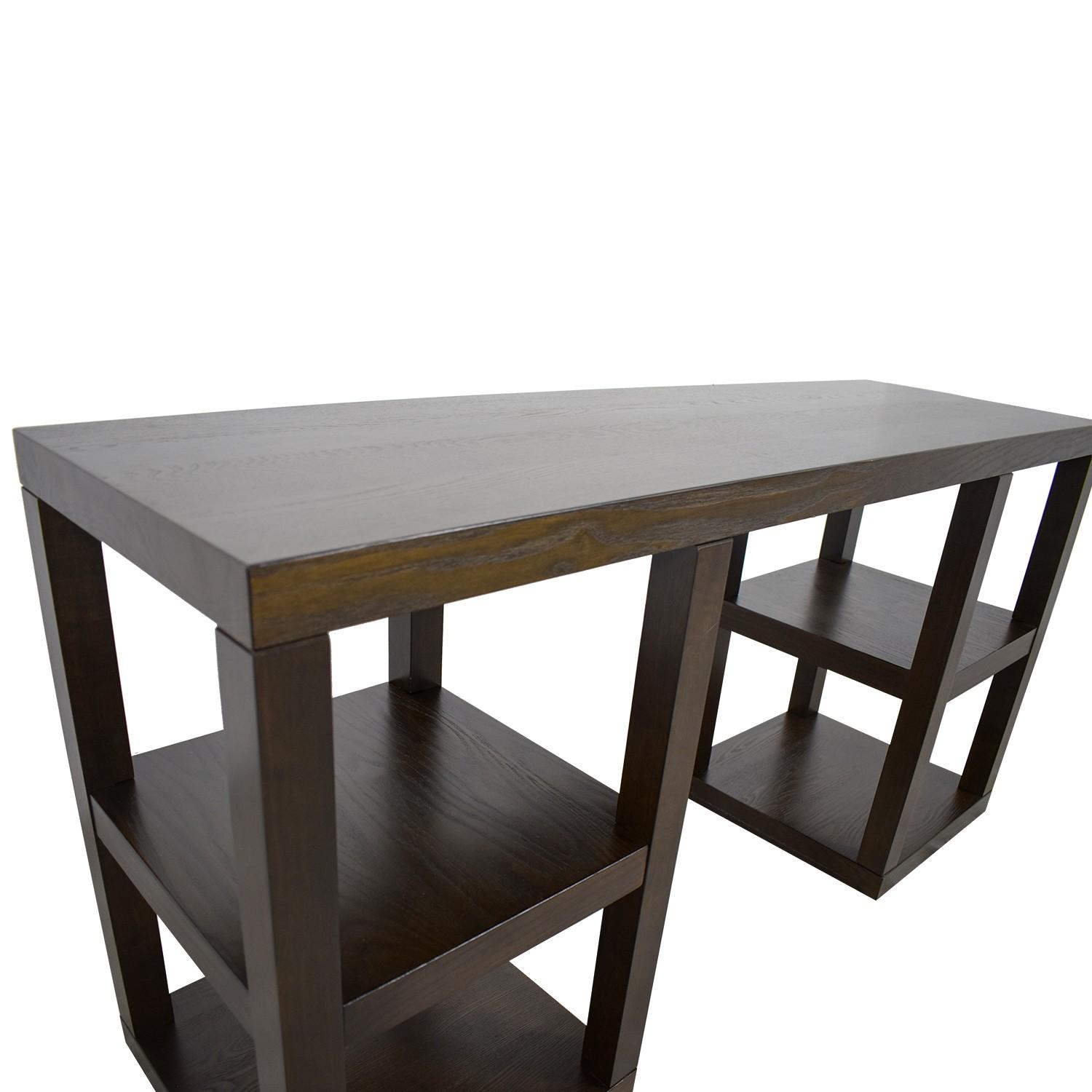 West Elm 2 X 2 Console Desk in Chocolate - image-5
