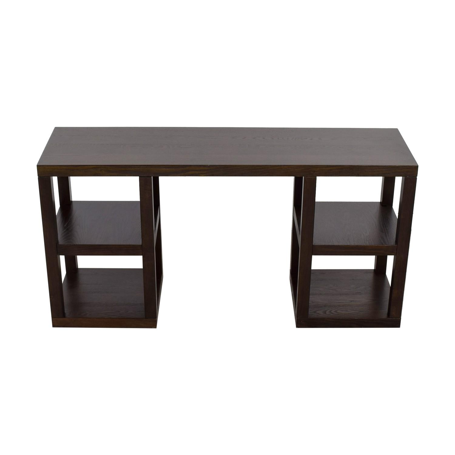 West Elm 2 X 2 Console Desk in Chocolate - image-6