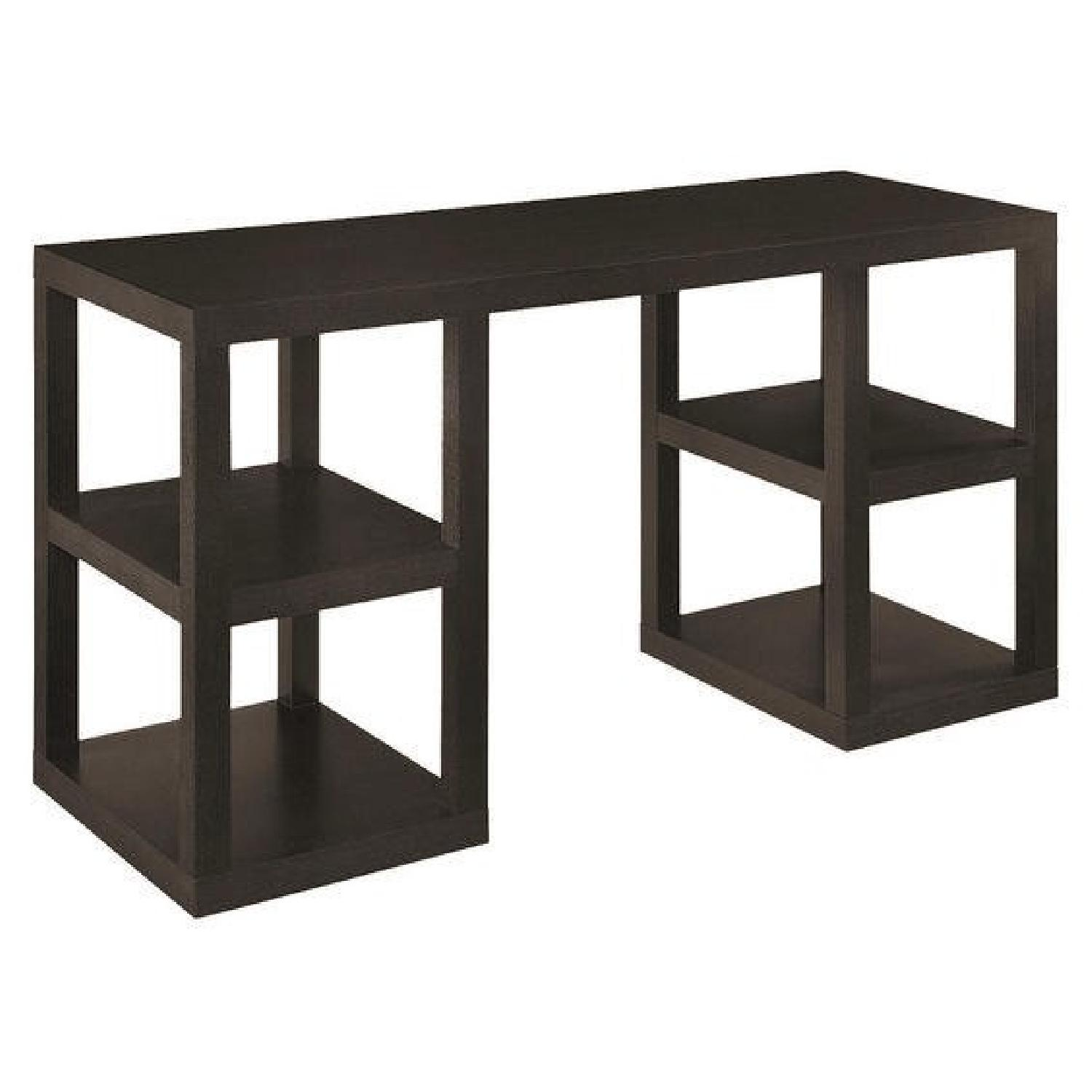 West Elm 2 X 2 Console Desk in Chocolate - image-0