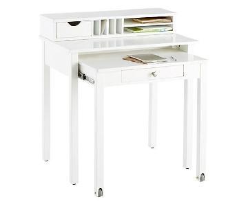 Container Store Desk w/ Rollout Desk & Hutch