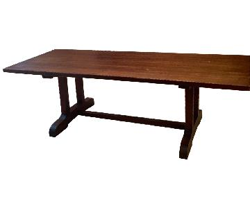 Long Custom Made Walnut Slab Dining Table