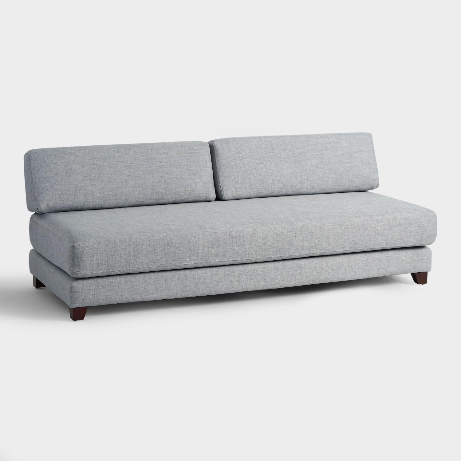 World Market Light Gray Sofa/Duet Daybed - image-0