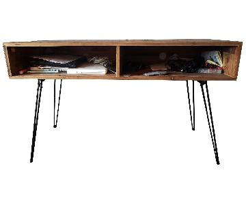 Vintage Rustic Wood Desk