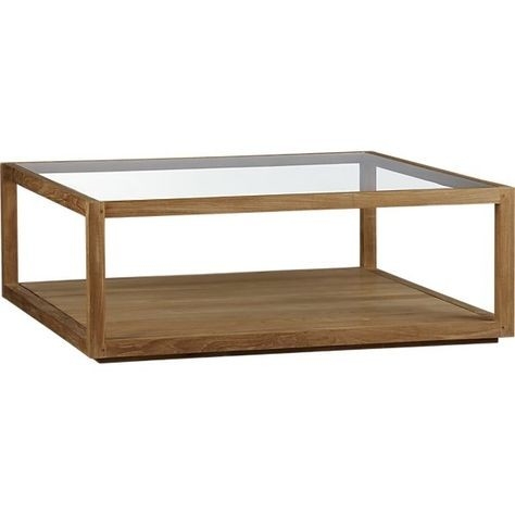 Crate & Barrel Structure Square Coffee Table