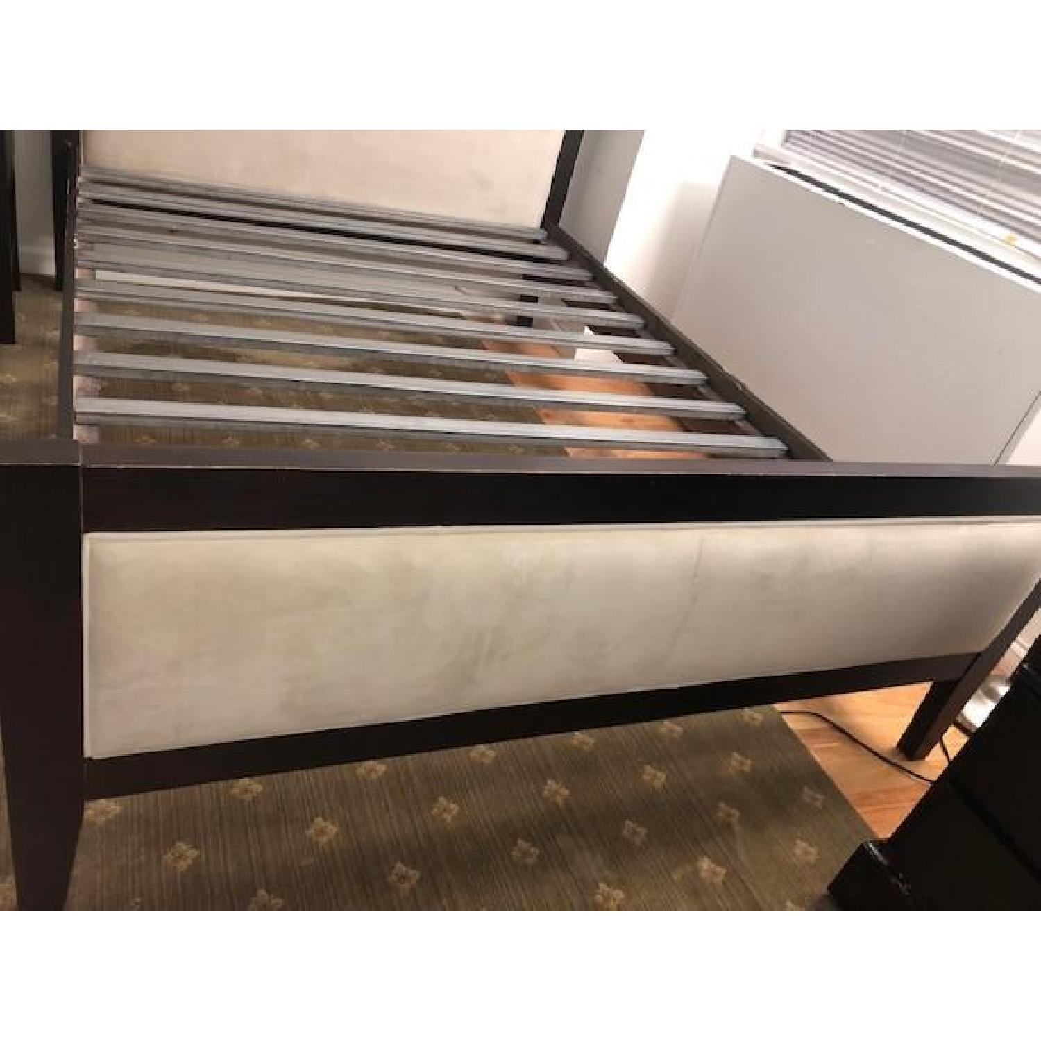 Room & Board Queen Bed w/ Upholstered Headboard & Footboard - image-3
