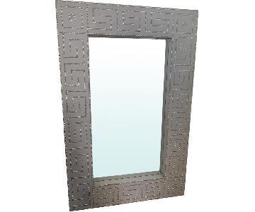Light Grey Embellished Mirror