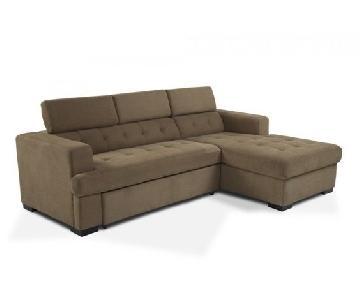 Bob's Playpen Sleeper Sectional Sofa w/ Storage
