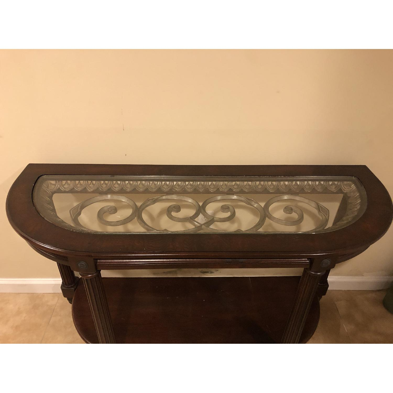 Raymour & Flanigan Sofa/Accent Table-0