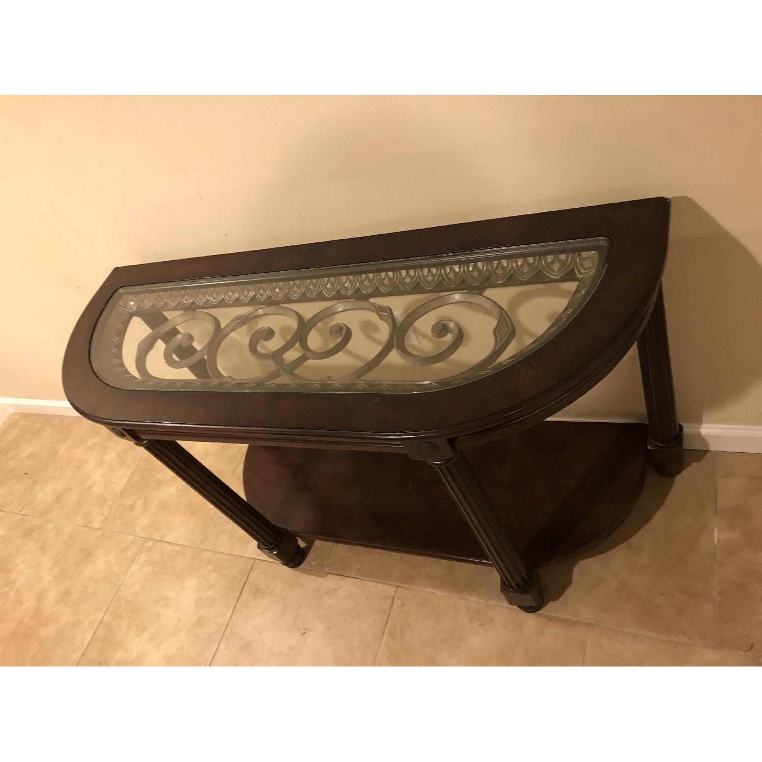 Raymour & Flanigan Sofa/Accent Table-3