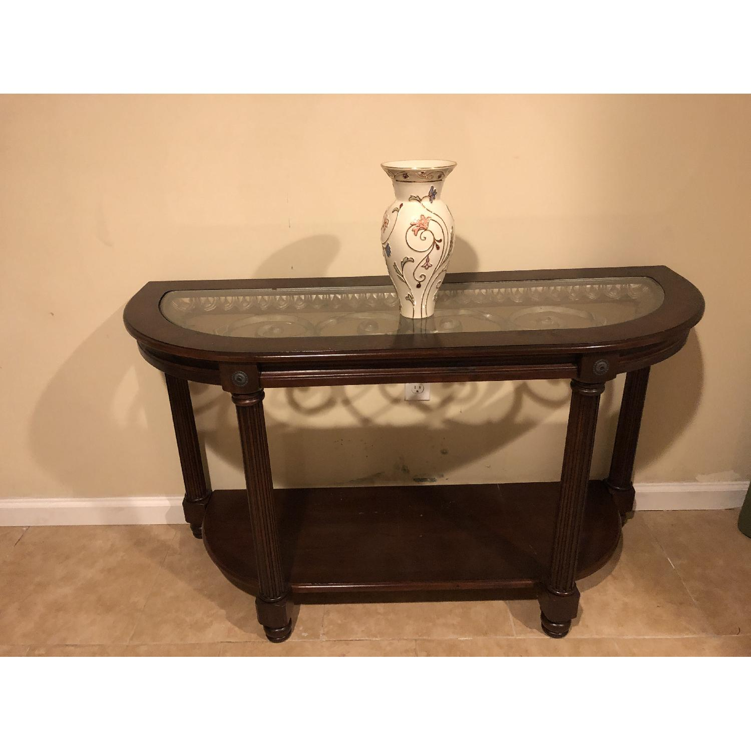 Raymour & Flanigan Sofa/Accent Table-4