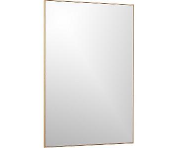 CB2 Infinity Brass Rectangular Wall Mirror