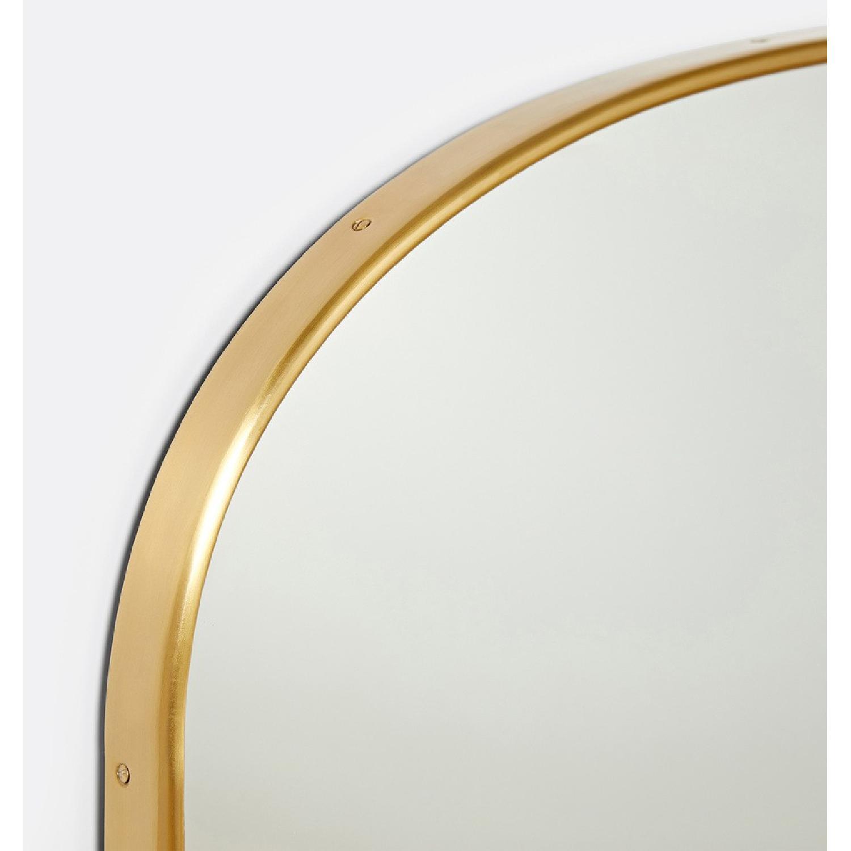 Rejuvenation Arched Mantel Metal Framed Mirror - image-1