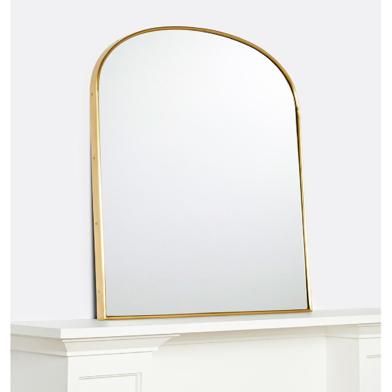 Rejuvenation Arched Mantel Metal Framed Mirror - image-2