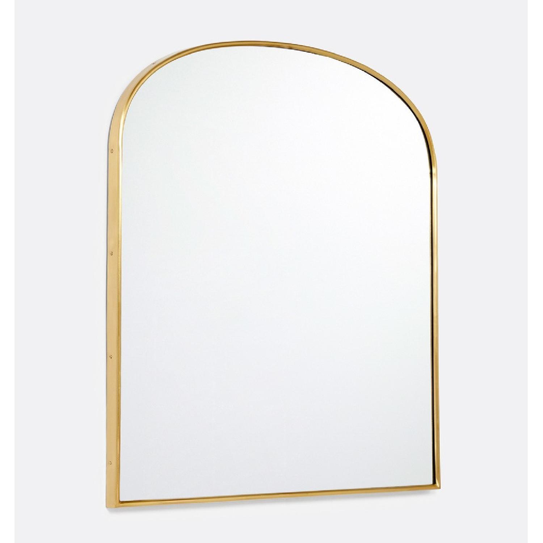 Rejuvenation Arched Mantel Metal Framed Mirror - image-3