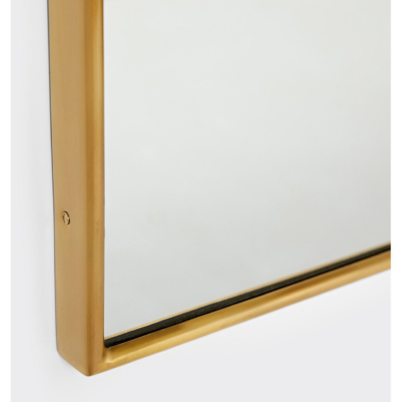 Rejuvenation Arched Mantel Metal Framed Mirror - image-4