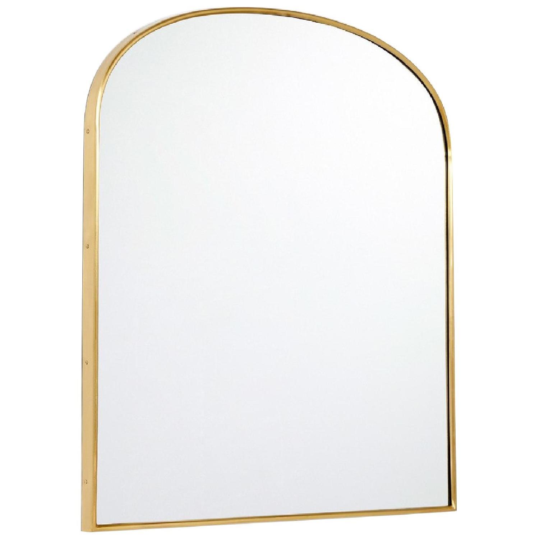 Rejuvenation Arched Mantel Metal Framed Mirror - image-0
