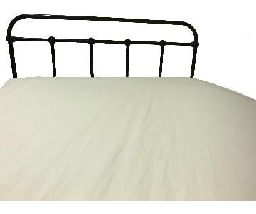 Antique Metal Full Size Bed Frame w/ Headboard & Footboard
