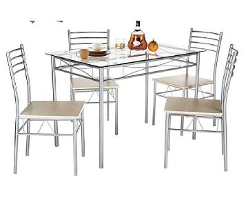 Vecelo Dining Table w/ 4 Chairs