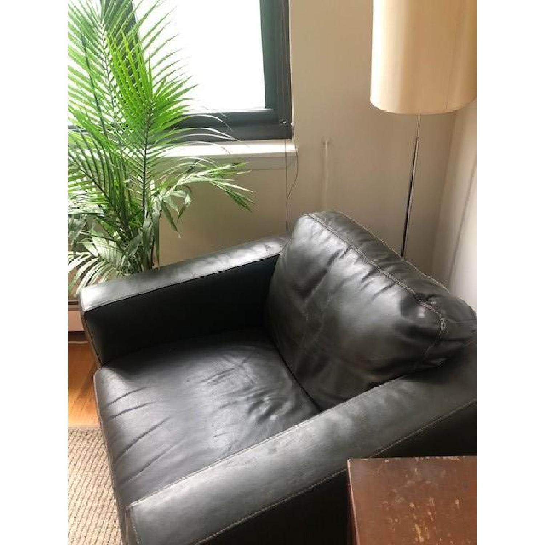 Sofitalia Black Leather Armchair - image-3
