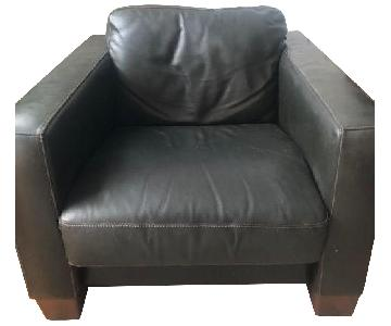 Sofitalia Black Leather Armchair