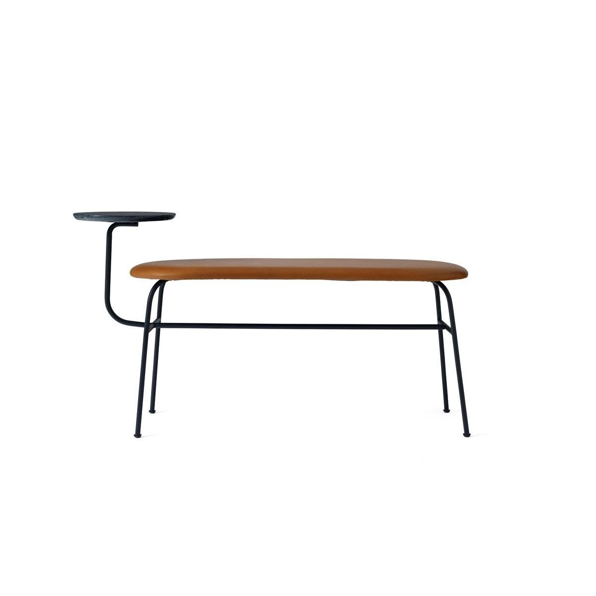 Afteroom Bench in Black w/ Cognac Dunes Leather