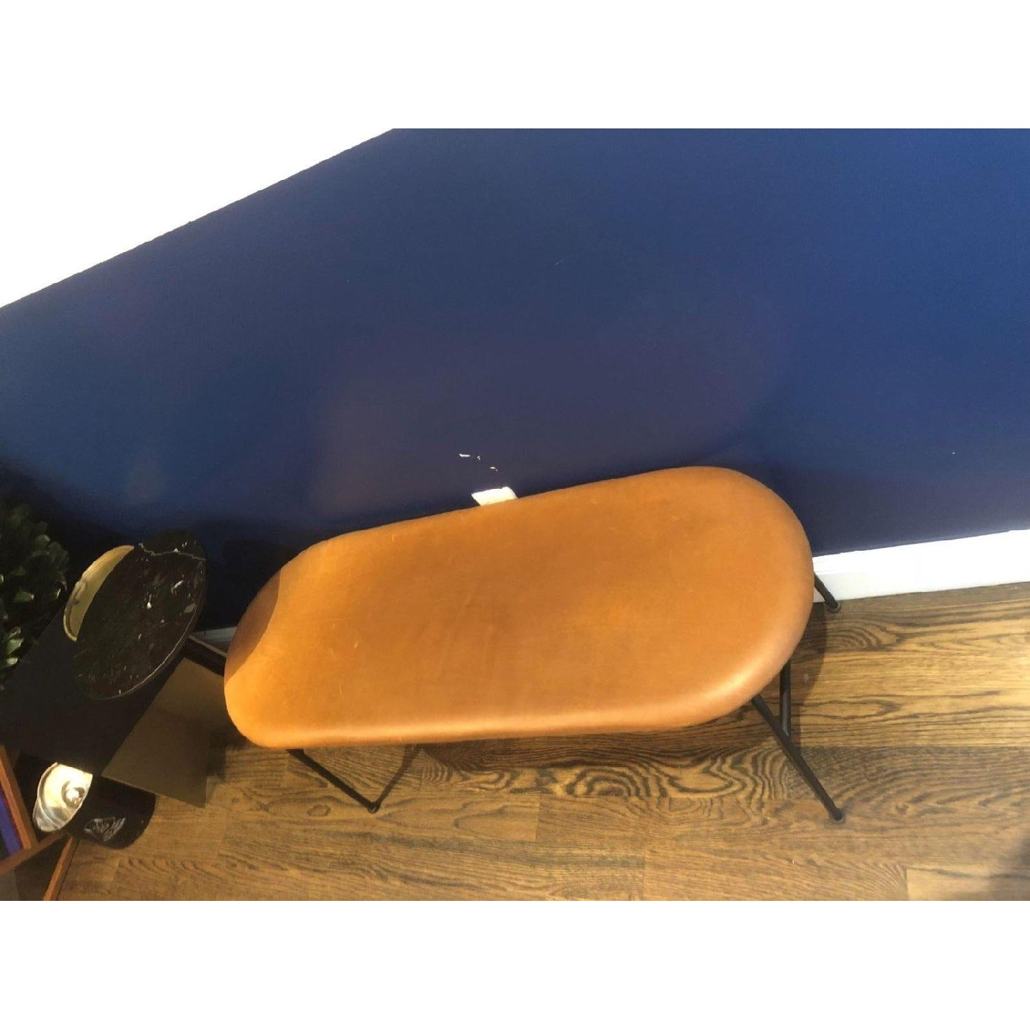Afteroom Bench in Black w/ Cognac Dunes Leather - image-2