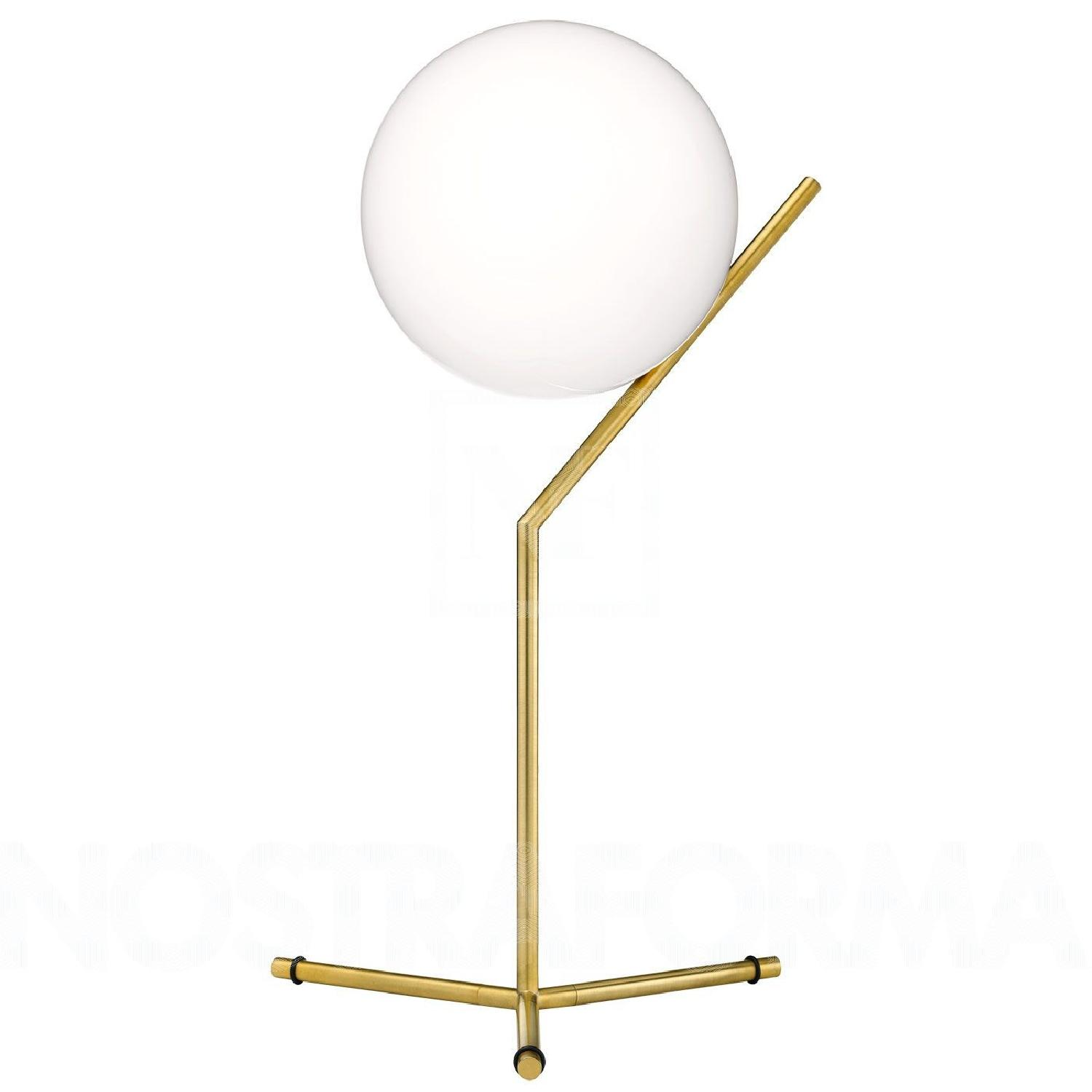 Flos Ic Lights T Brass Dimmable Table Lamp - image-0