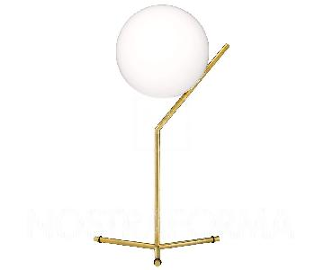 Flos Ic Lights T Brass Dimmable Table Lamp