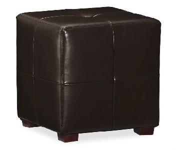 Pottery Barn Leather Square Ottoman