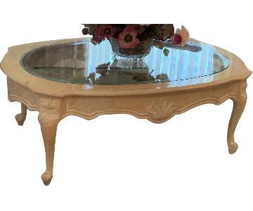 Vanguard Furniture Glass Top Coffee Table