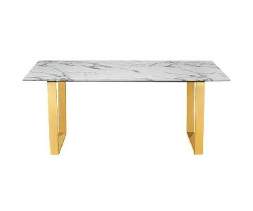 Everly Quinn Faux Marble Dining Table