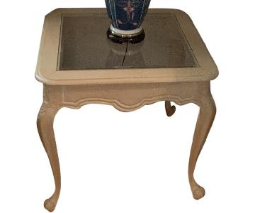 Vanguard Furniture Glass Top End Tables