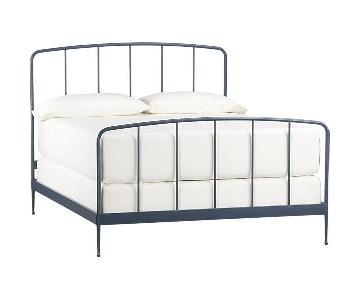 Crate & Barrel Rory Blue Full Bed Frame