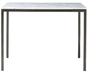 West Elm Box Frame Marble Counter Table