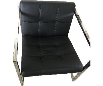 Safavieh Black Leather Chair