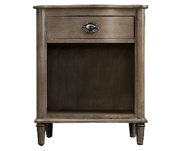 Restoration Hardware Empire Rosette Open Nightstand