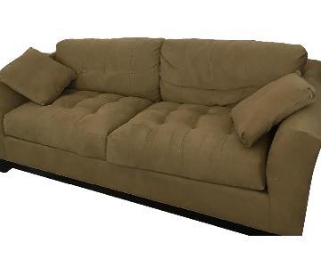 Raymour & Flanigan Cindy Crawford Metropolis Microfiber sofa