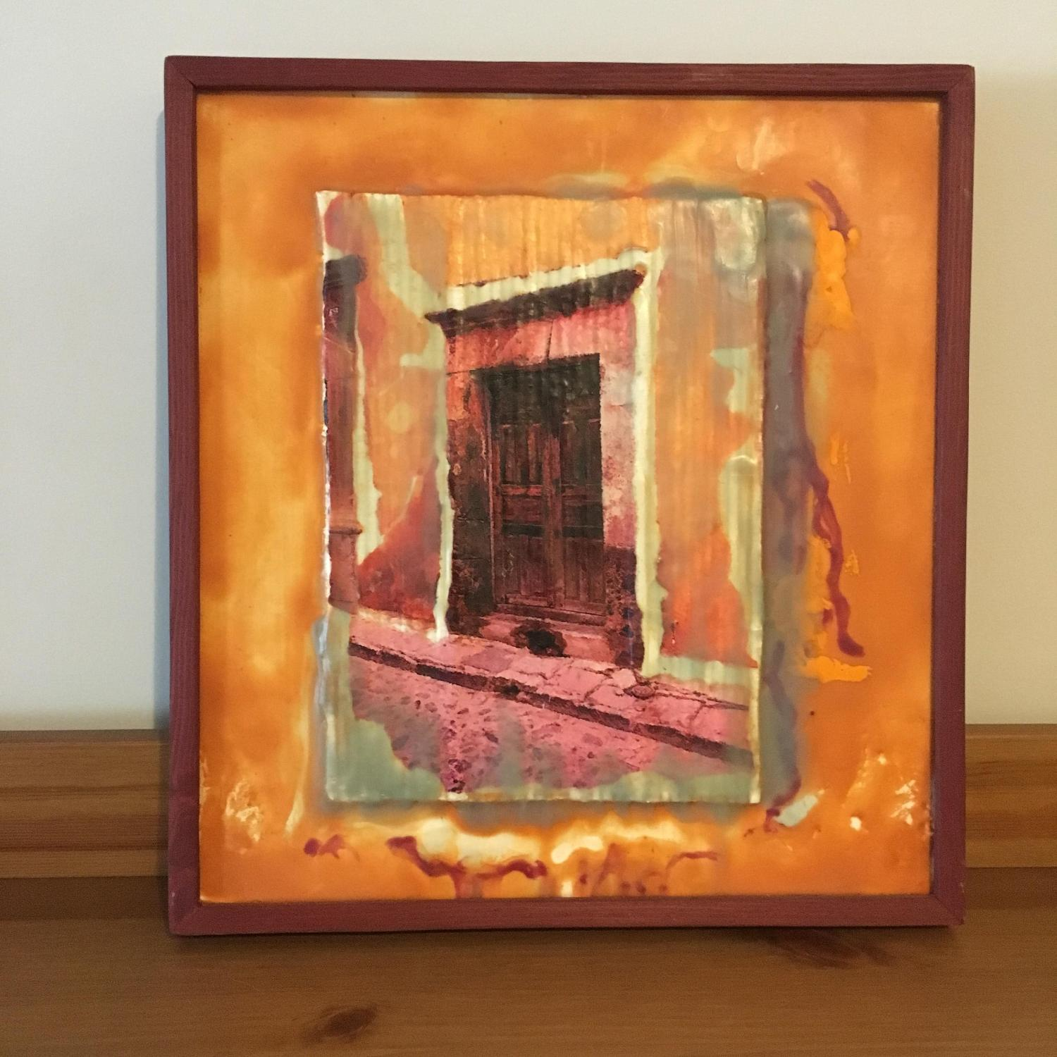 Calle Morada Collage Encaustic Beeswax - image-1