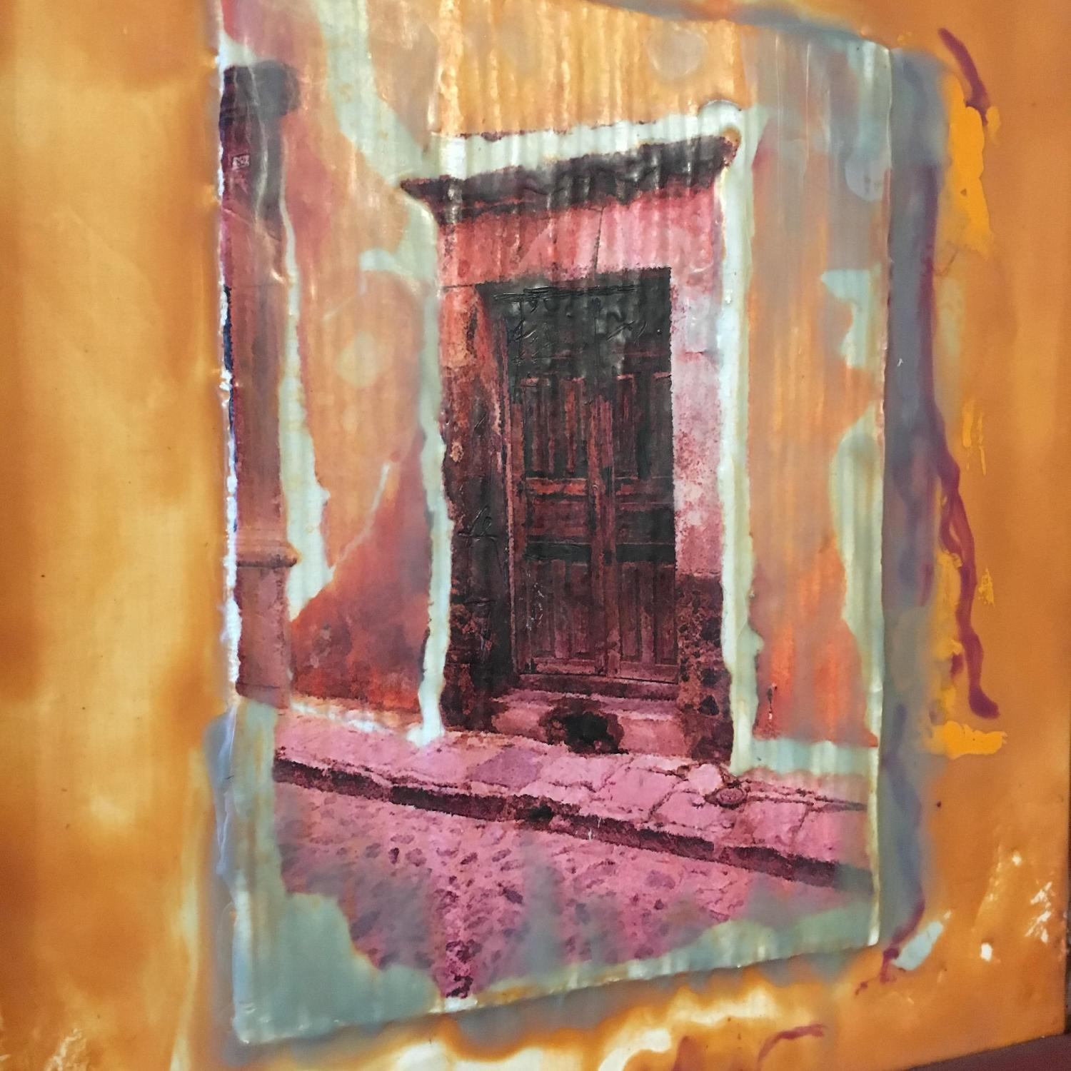 Calle Morada Collage Encaustic Beeswax - image-3